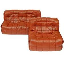 1970s Leather Sofa Exclusive And Organic 1970s Leather Sofa And Lounge Chairs By