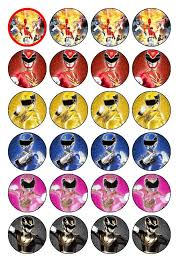 power rangers cake toppers 24 power rangers megaforce cupcake toppers in crafts cake
