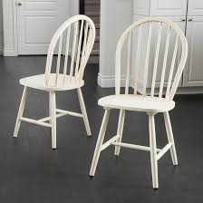 countryside high back spindle dining chair wood antique white set