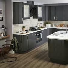 white gloss kitchen doors cheap b q santini anthracite gloss kitchen doors varies sizes ebay