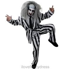 black suit halloween mens crazy ghost suit halloween fancy dress costume mad man choose