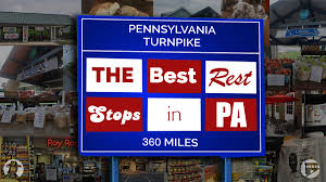 Pennsylvania Toll Road Map by Eating The Turnpike All Of Pennsylvania U0027s 15 East West Rest Stops