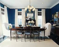 Navy Blue Dining Room Before After A Blank Dining Room Plus Rich Bold Color Blue