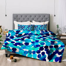 amy sia gracie spot blue comforter deny designs