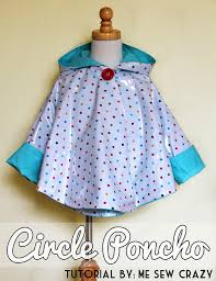 15 april showers craft projects ponchos rain poncho and tutorials