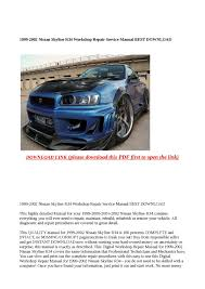 100 nissan skyline r34 workshop manual torque gt nissan