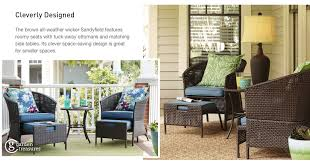 Patio Chairs With Ottomans Shop The Sandyfield Patio Collection On Lowes Com