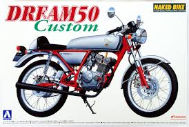 aoshima bike 37 45077 honda dream 50 custom 1 12 scale kit