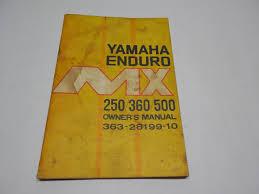 yamaha enduro mx250 mx360 mx500 mx owner u0027s manual vintage