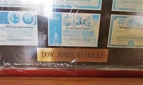 Dow Jones Help Desk Dow Jones 30 Stock Certificate Display