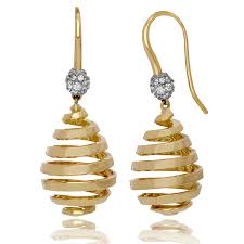 png gold earrings earrings 18kt yellow gold and diamond les boules swirl sport