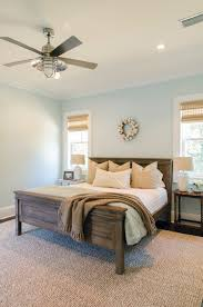 interior minimalist guest room idea with twin platform bed and