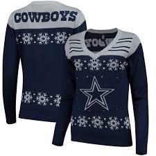 cowboys sweater dallas cowboys s light up v neck sweater navy fanatics com