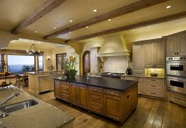 Traditional Kitchen Island Lighting Spacious Rustic Kitchen Design Laminated Wooden Kitchen Island
