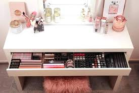 Makeup Organizer Desk Small Makeup Organizer Marvelous Small 3 Drawer Storage Picture