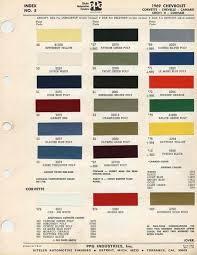 corvette information com articles corvette paint colors 1960
