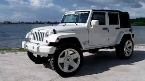 jeep wrangler on 24s all white jeep wrangler jk 4 door by autostyling