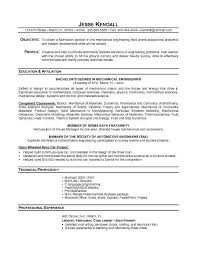 Fresher Resume Objective Examples by Objective Fresher Mechanical Engineer Resume