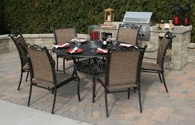 Patio Table Seats 8 Dining Room Great Contemporary Round Outdoor Table Set For Home