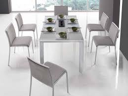contemporary white dining room set with white gloss modern dining