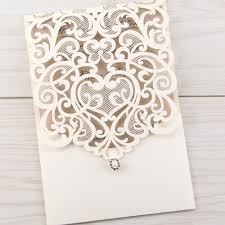 Laser Cut Invitation Cards Luxe Floral Paper Lace Laser Cut Wedding Invitation By Laser Cut