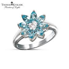 snowflake engagement ring kinkade snowflake splendor blue topaz and diamond ring