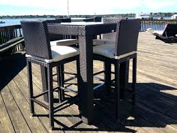 High Top Patio Dining Set High Top Table Patio Furniture Wrought Iron Amusing Outdoor Dining