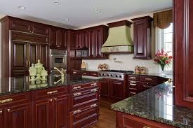 hardware for cherry cabinets woodmode cherry cabinet kitchen with brass hardware and