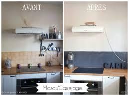 cuisine avant apr鑚 repeindre un carrelage de cuisine