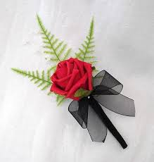 wedding flowers buttonholes x buttonholes in and black artificial wedding flowers