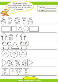 pattern math worksheets multiplication facts drills math clock