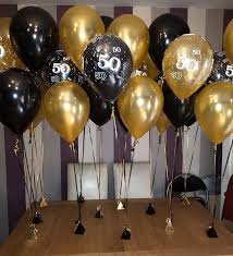 50th birthday balloons black and gold standard 50th birthday balloons deco