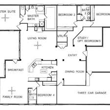 one story floor plan single floor home design house plans building plans single