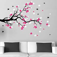 Wall Sticker Warehouse Cherry Blossom Branch With Birds Vinyl Wall Art Decal Free