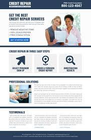 best credit repair service responsive landing page design template