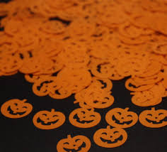 halloween party decoration kits 50g 16mm pumpkins table confetti