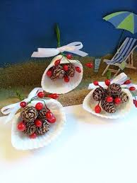 painted sea shell decor seashell ornaments coastal