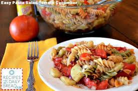 and easy tomato cucumber pasta salad