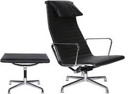 eames office chair ea124 aluminum group high back ea125 ottoman
