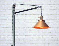 Edison Bulb Floor Lamp Industrial Floor Lamp With Shelf By Splinterwerx On Etsy
