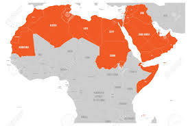 arab countries map arab world states political map with higlighted 22 arabic speaking