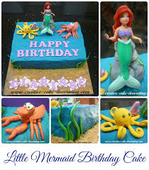 ariel the little mermaid birthday cake