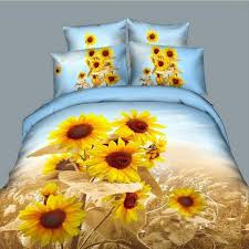 Sunflower Bed Set Brand New Painting Sunflowers Bedding Set 3d Bedclothes