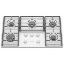 Kitchenaid Gas Cooktop Accessories Shop Kitchenaid 36 Inch Ceramic Glass Gas Cooktop Color White