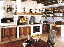 old kitchen design i really like the natural wood and brick colors in this kitchen
