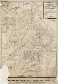 Map Of Montana And Wyoming by The Evening Telegraph U0027s Claim Map Of The Cripple Creek Mining