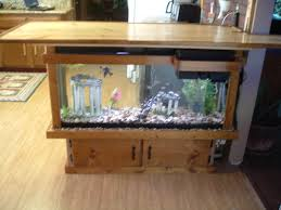 this is a 55 gallon fish tank bar that sits in our kitchen i u0027ve