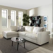 Leather Sectional Sofa Chaise by Stylish White Leather Sectional Sofa With Chaise U2013 Interiorvues