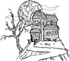 house drawings haunted house drawings holidays and observances