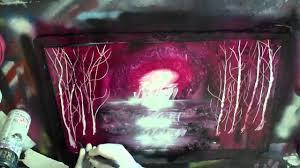 Light Pink Spray Paint - spray paint art tiki art enchanted forest youtube